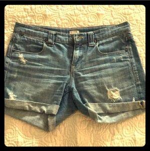 J. Crew Stretch Denim Shorts